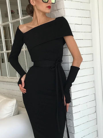 Zahava Black Long Sleeve Dress