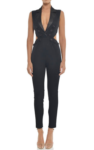 Jayden Black Jumpsuit with Cut Out