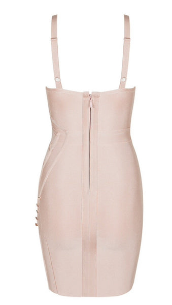 Kandee Light Pink Bandage Dress