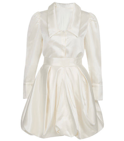 Opal Ivory Two Piece Puff Dress