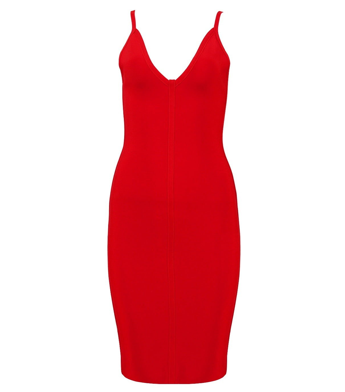 Penelope Red Spaghetti Strap Bandage Dress