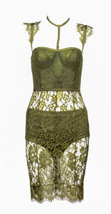 Hayden Green Lace Dress