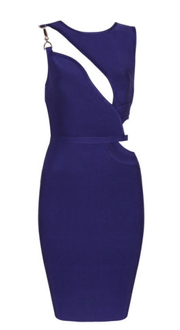 Dolores Navy Blue  Bandage Dress
