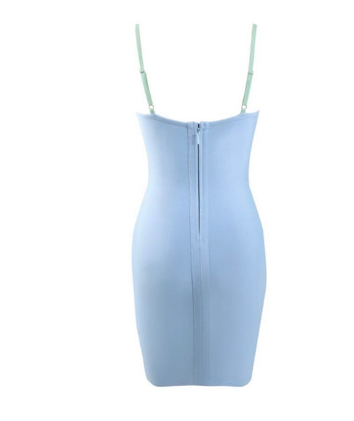 Bella Blue Backless Hollow Out Mini Dress
