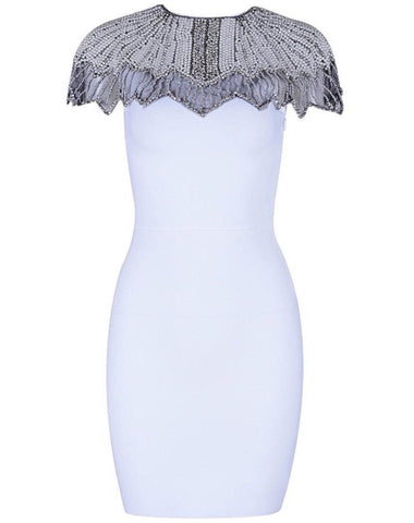 Siah White Embellished Dress