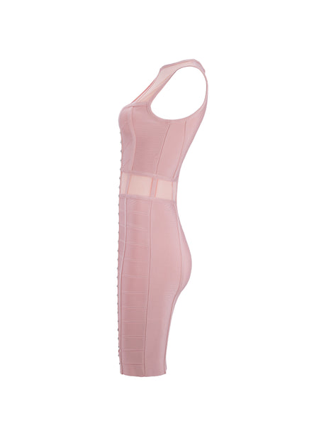 Akira Light Pink Bandage Dress