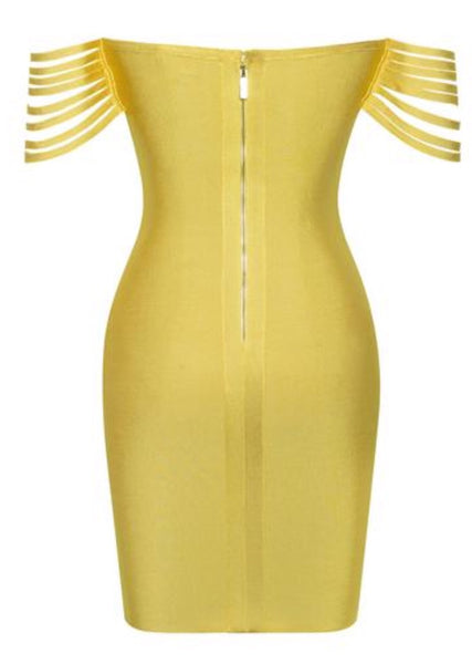 Kasey Yellow Bandage Dress