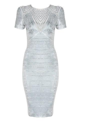 Meryl Sliver Bandage Dress