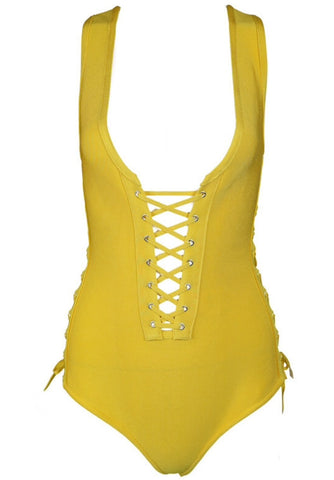 Octavia Lace Up One Piece Swimsuit