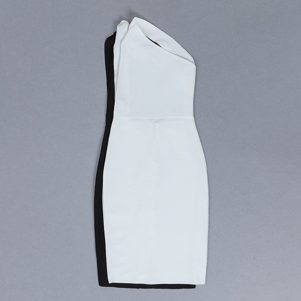 Milani Asymmetric Open Back Midi Bandage Dress