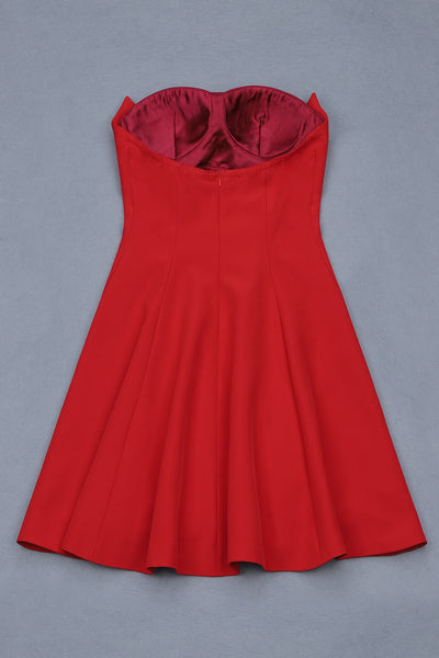 Linnett Mini Red Dress