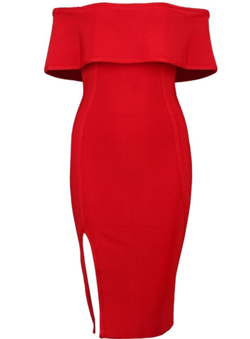Michelle Red Bandage Dress