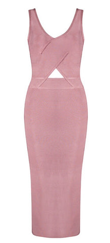 Iyanna Crossover Bust Bandage Dress