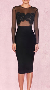 Marcie Black Bandage Dress