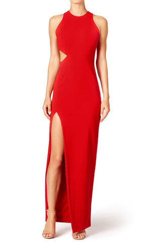 Dorothea Red Maxi Bandage Dress