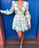 Chita Long Sleeve Floral Dress