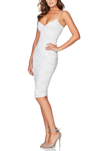 Christal White Lace Dress