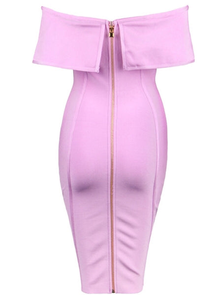 Michelle Pink Bandage Dress