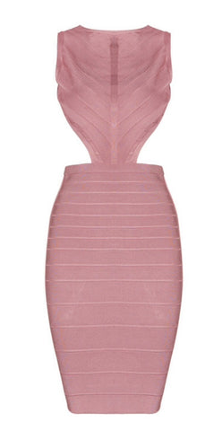 Irsia Mini Open Back Bandage Dress