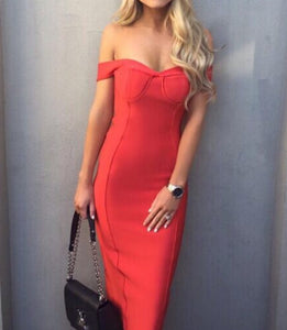 Elsa Red Bandage Dress