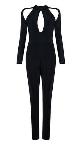 Rochelle Long Sleeve Bandage Jumpsuit