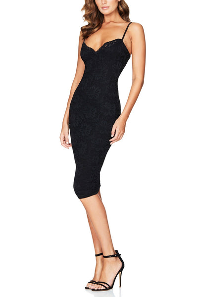 Christal Black Lace Dress