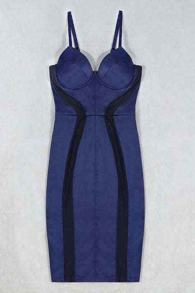 Juliann Sexy Dark Blue Dress