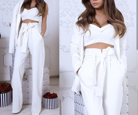 Pasha White Suit Set