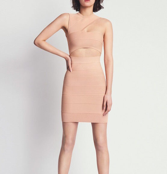 Lauryn Classic Mini Bandage Dress with Cutout Design