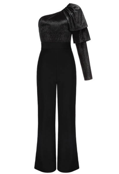 Nolwenn Black One Sleeve Jumpsuit
