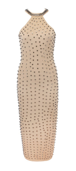 Kyra Beige Maxi Dress
