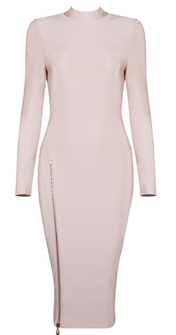 Phyllida Nude Bandage Dress