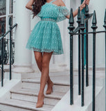 Annabelle Blue Lace Dress