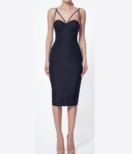 Katarzyna Black Bandage Dress