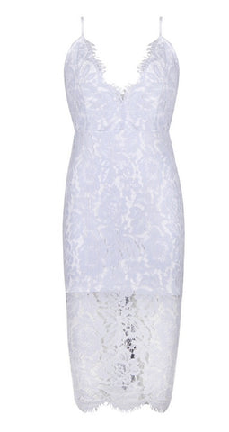 Natalie Light Blue Lace Dress