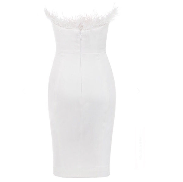 Sloane White Strapless Bandage Dress