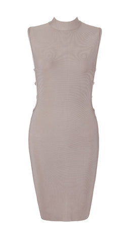 Catriona Beige Bandage Dress