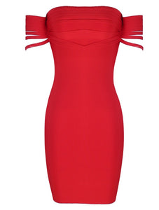 Kasey Red Bandage Dress