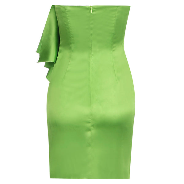 Aitana Light Green Strapless Mini Party Dress