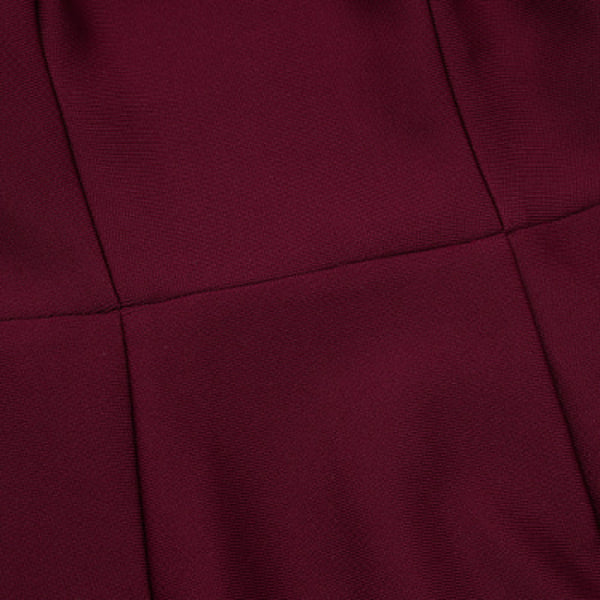 Harmoni Burgundy Long Sleeve Bandage Dress