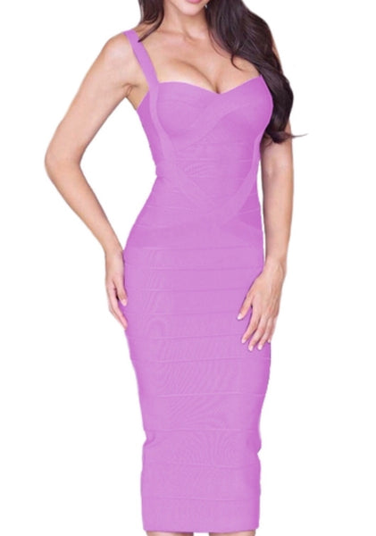 Callie Purple Bandage Dress