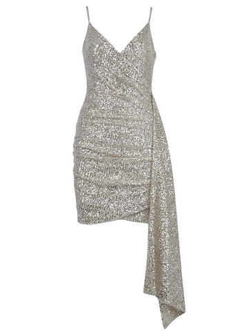 Addison Sliver Mini Sequin Strap Dress