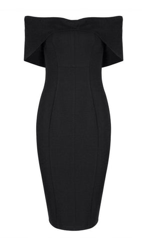 Brigitte Black Off Shoulder Dress