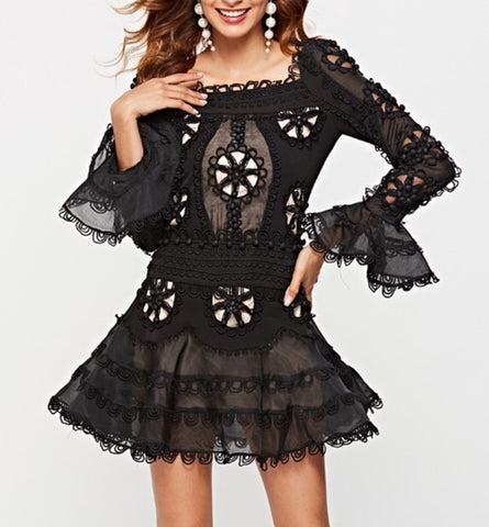Wilona Long Sleeve Cut Out Mini Dress