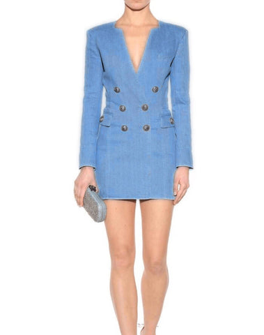 Adelita Blue Jacket Dress