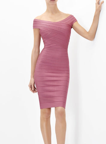 Ivy Deep Blush Bandage Dress