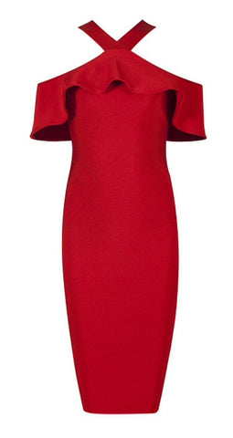 Aria Red  Bandage Dress
