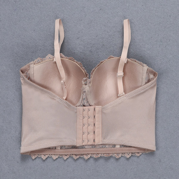 Brynn Embellished Lace Bustier Top