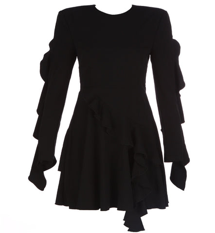 Chrystelle Black Long Sleeve Dress