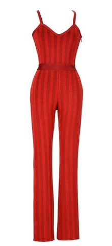Aimée Red Bandage Jumpsuit